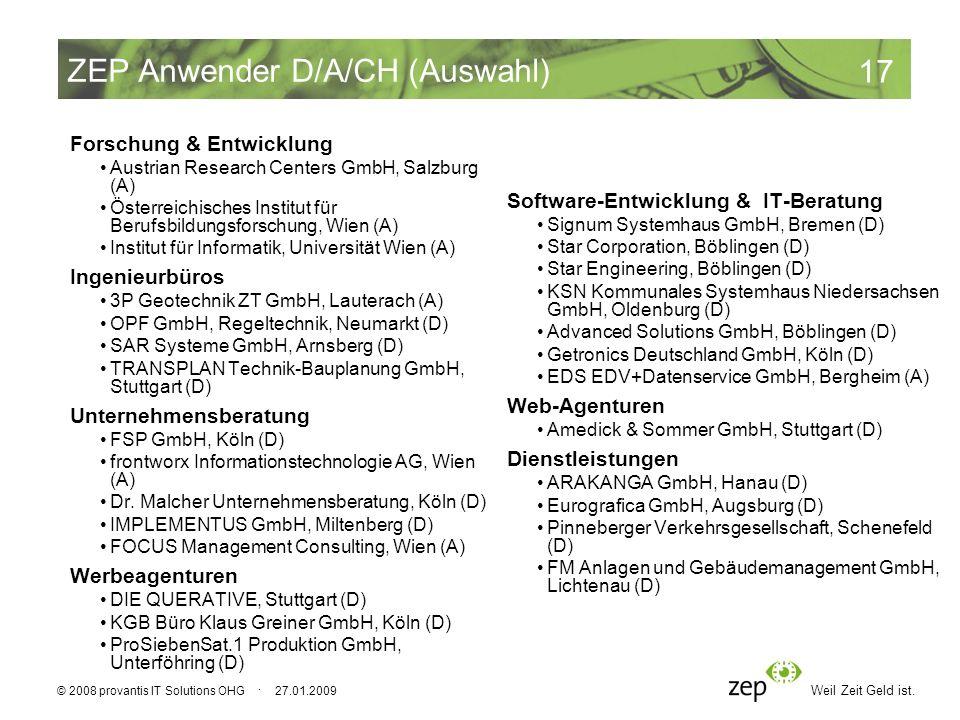 ZEP Anwender D/A/CH (Auswahl)