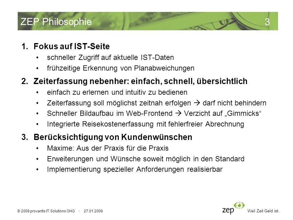 ZEP Philosophie Fokus auf IST-Seite