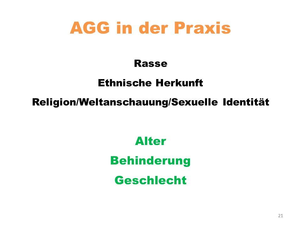 Religion/Weltanschauung/Sexuelle Identität