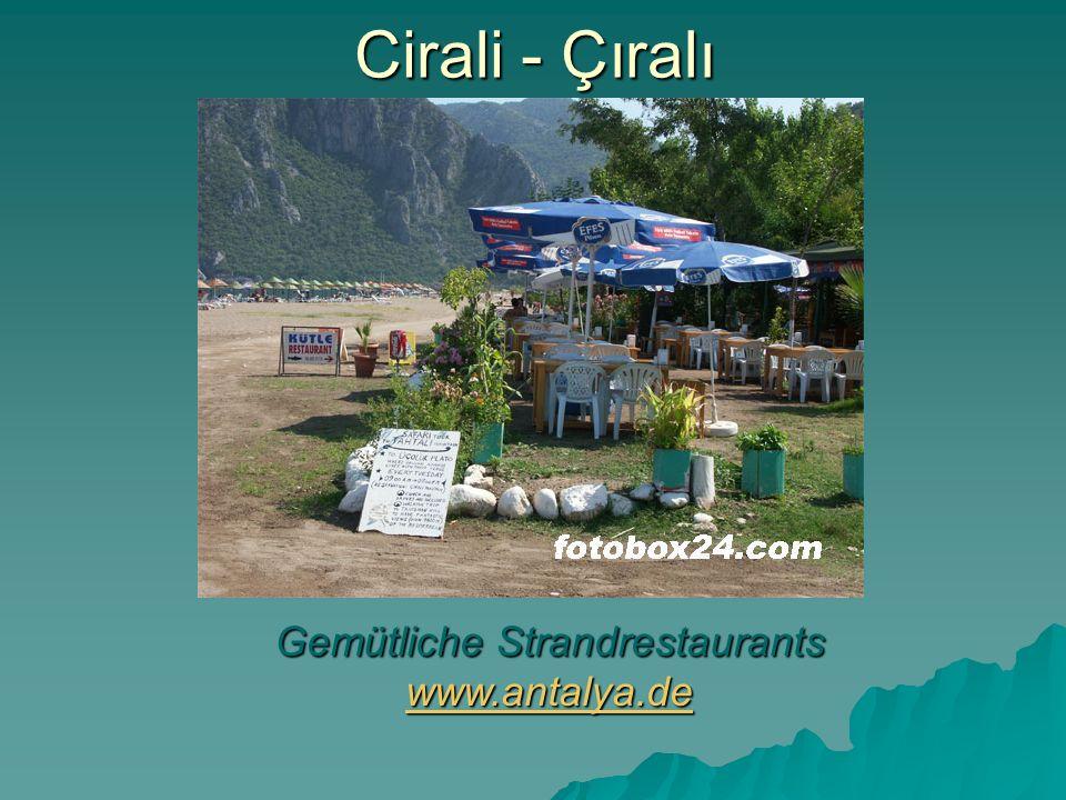Gemütliche Strandrestaurants