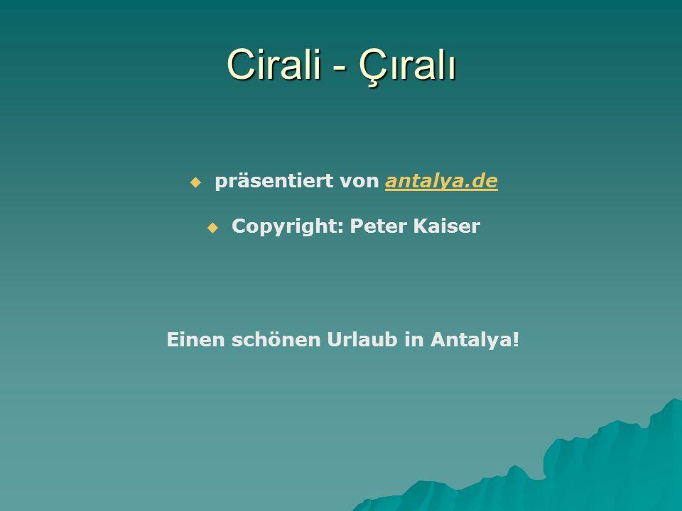 Cirali - Çıralı präsentiert von antalya.de Copyright: Peter Kaiser