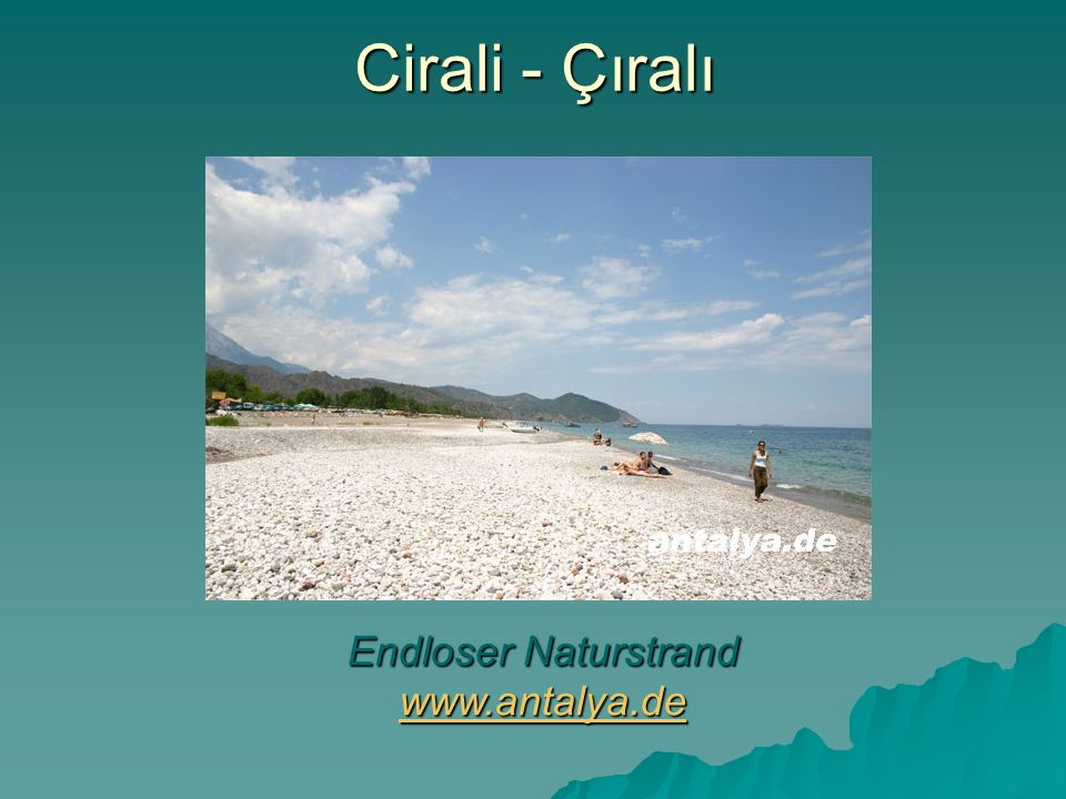 Endloser Naturstrand www.antalya.de