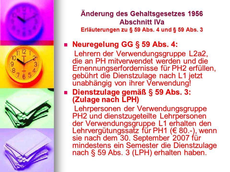 Dienstzulage gemäß § 59 Abs. 3: (Zulage nach LPH)