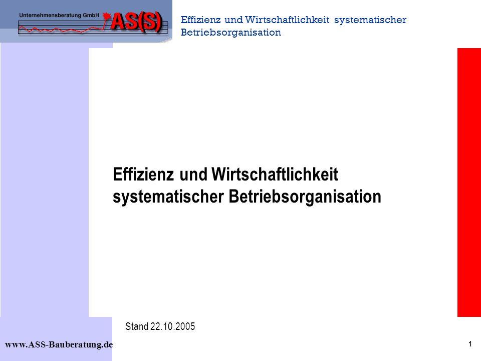 Effizienz und Wirtschaftlichkeit systematischer Betriebsorganisation