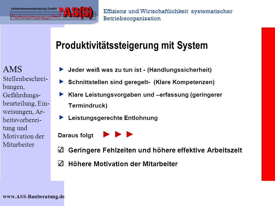 Produktivitätssteigerung mit System
