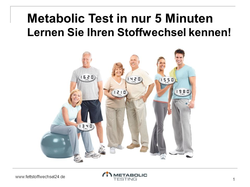 Metabolic Test in nur 5 Minuten