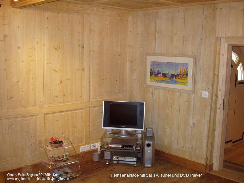 Fernsehanlage mit Sat-TV, Tuner und DVD-Player