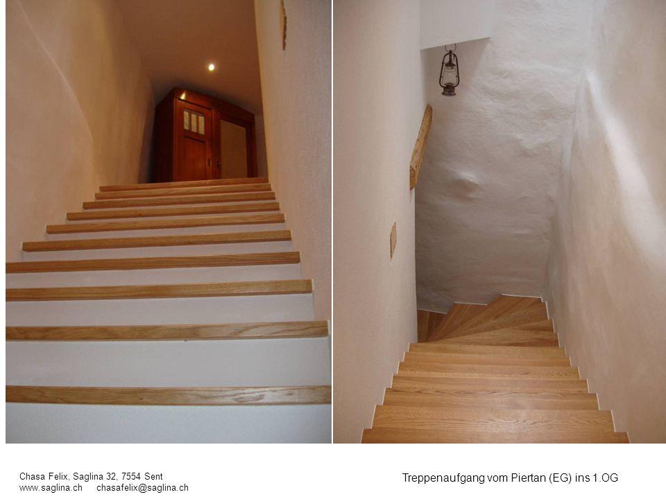 Treppenaufgang vom Piertan (EG) ins 1.OG
