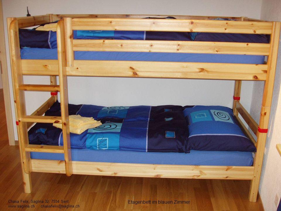 Etagenbett im blauen Zimmer