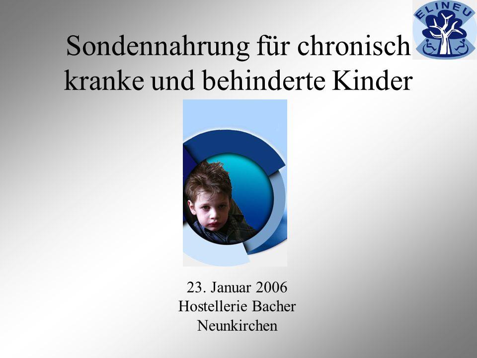 Sondennahrung für chronisch kranke und behinderte Kinder