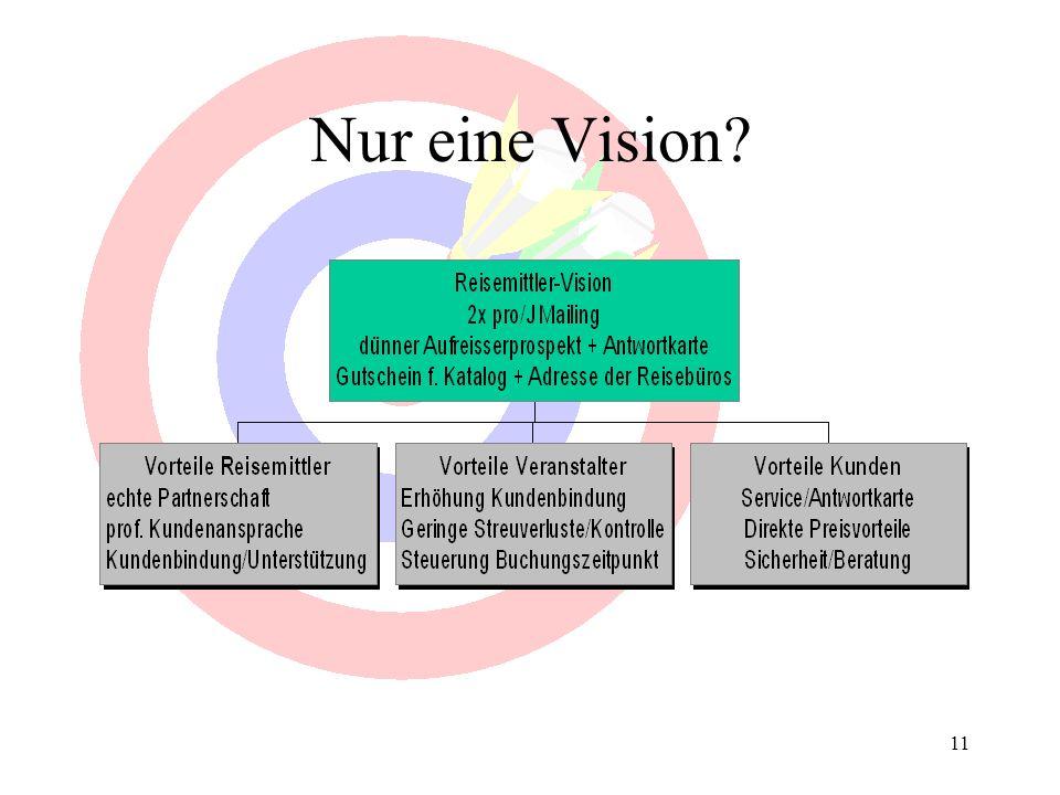 Nur eine Vision weitere Schritte: