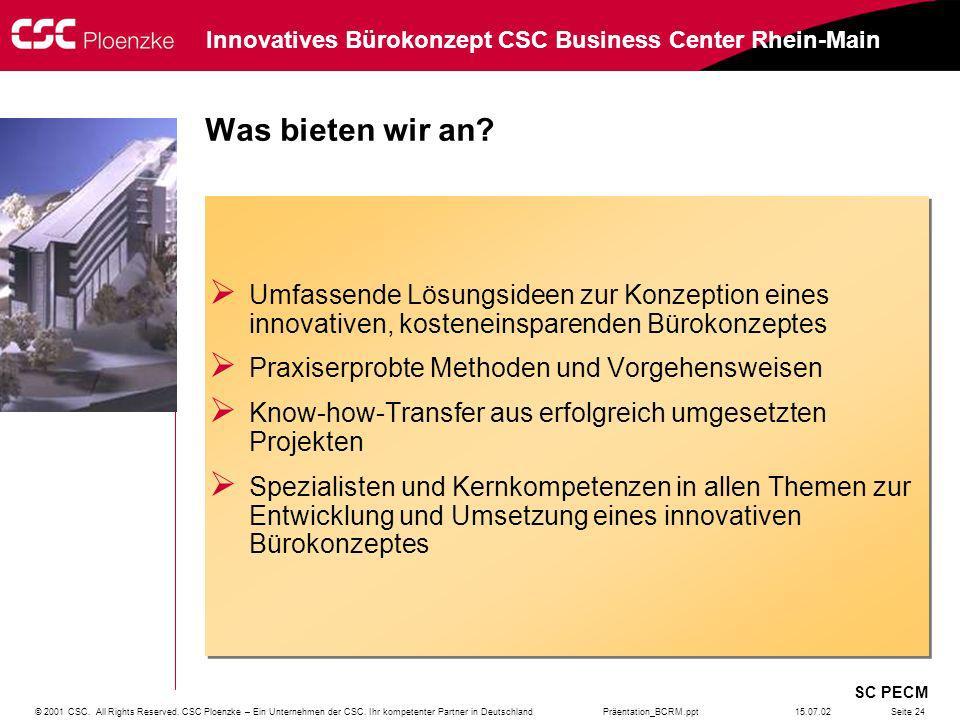 Was bieten wir an Umfassende Lösungsideen zur Konzeption eines innovativen, kosteneinsparenden Bürokonzeptes.