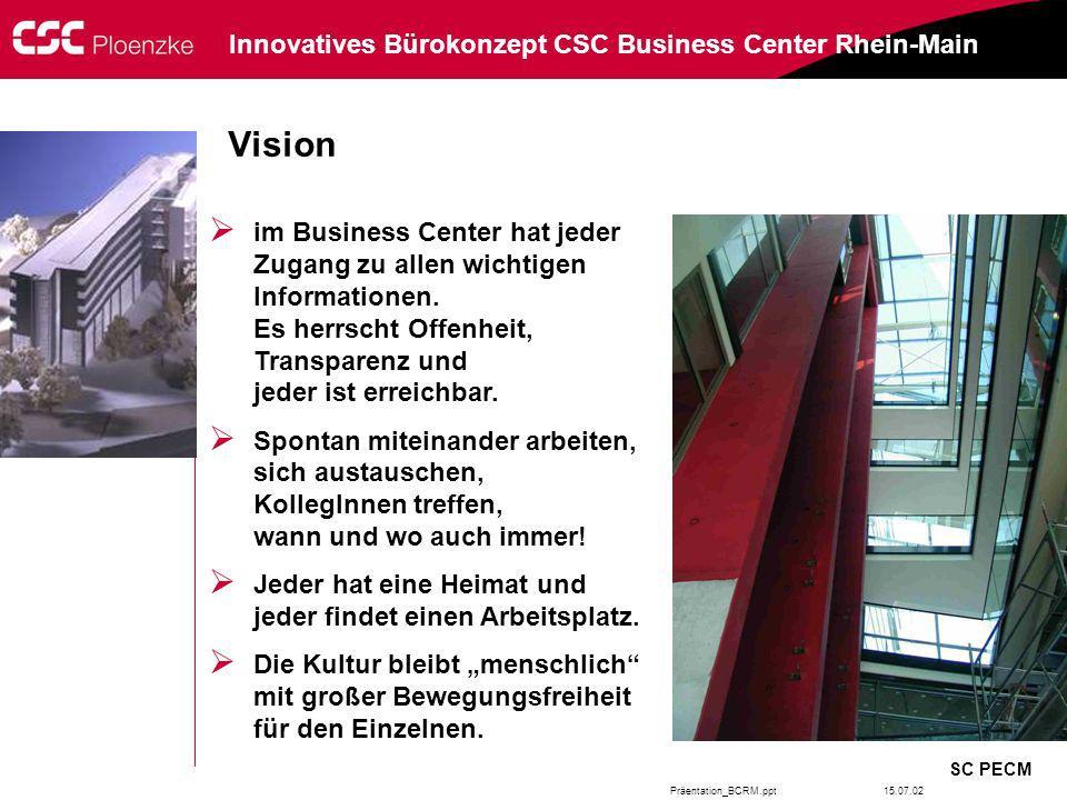 Vision im Business Center hat jeder Zugang zu allen wichtigen Informationen. Es herrscht Offenheit, Transparenz und jeder ist erreichbar.