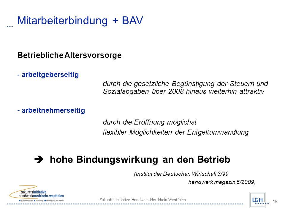 Mitarbeiterbindung + BAV