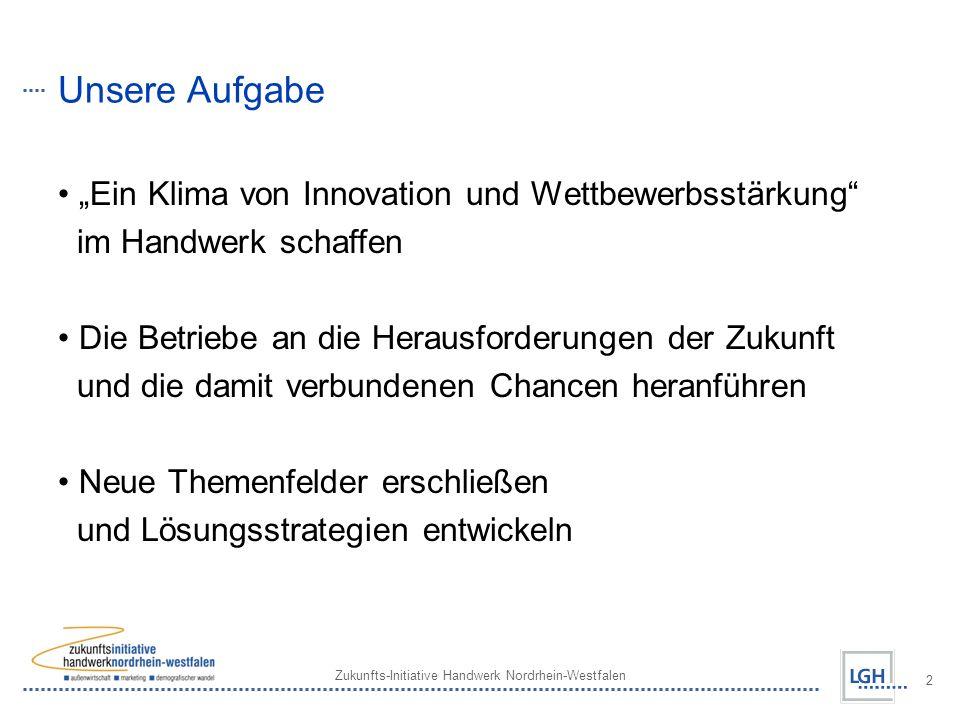 """Unsere Aufgabe """"Ein Klima von Innovation und Wettbewerbsstärkung"""
