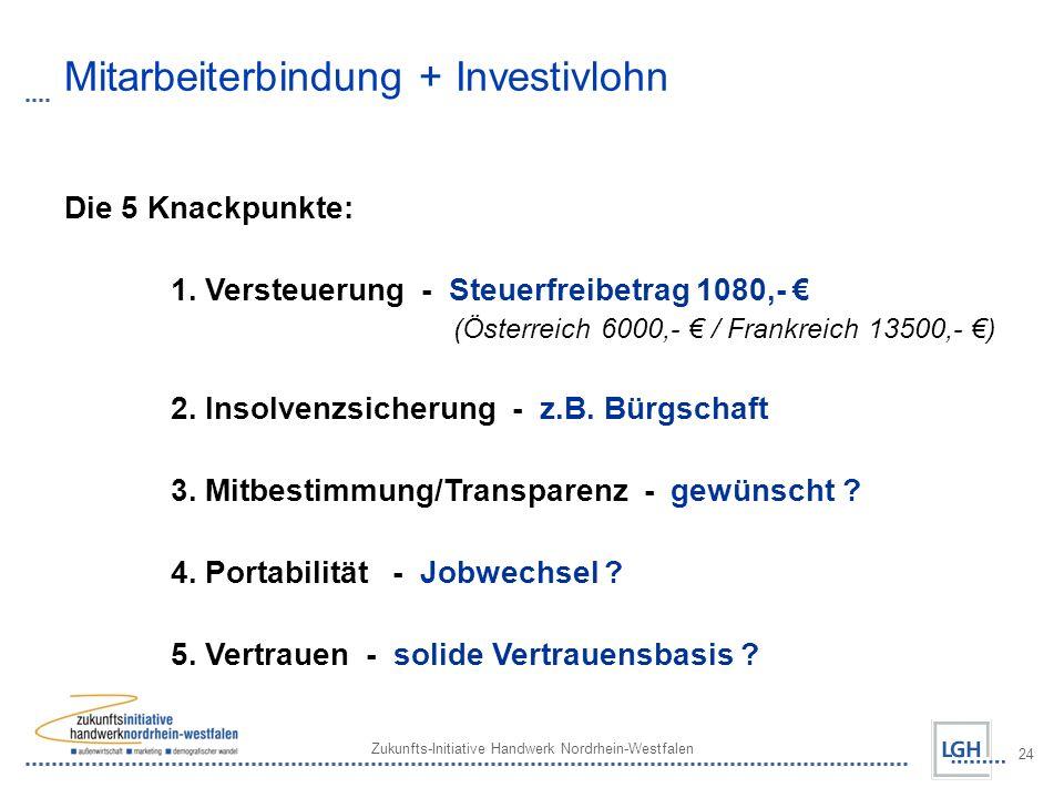 Mitarbeiterbindung + Investivlohn