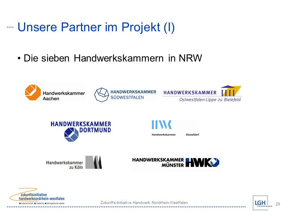 Unsere Partner im Projekt (I)
