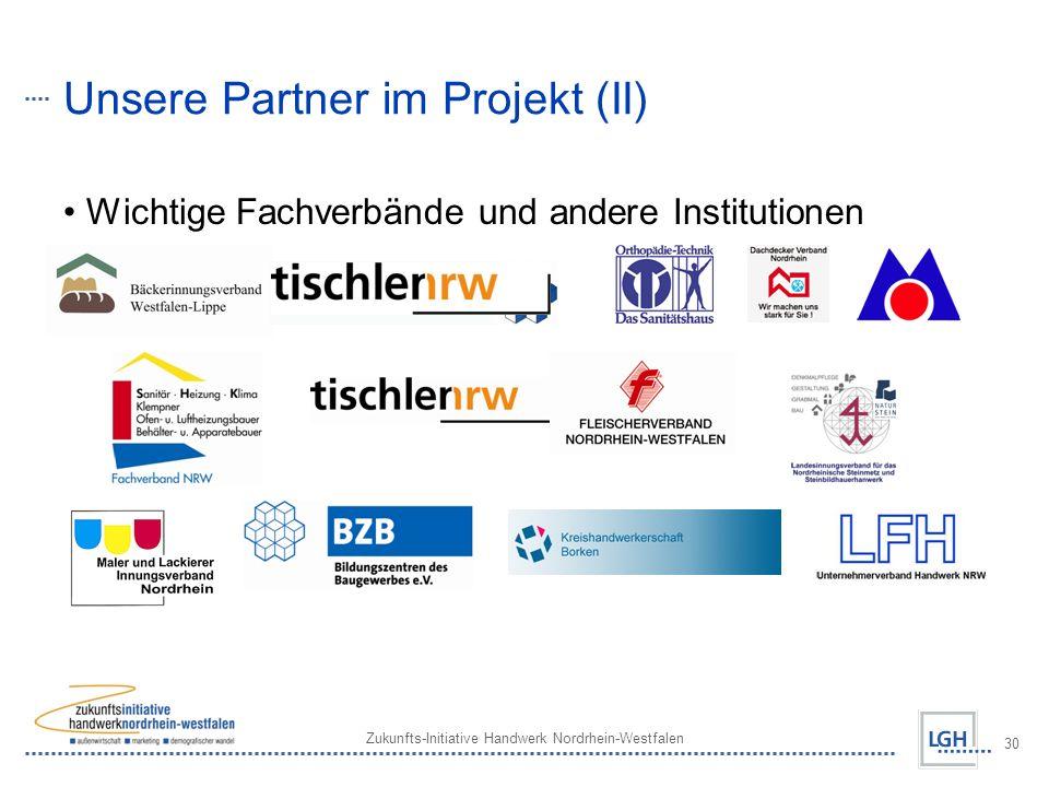 Unsere Partner im Projekt (II)