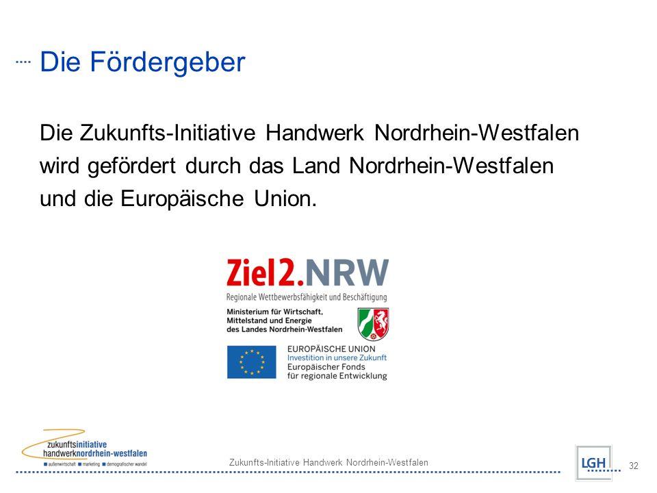 Die Fördergeber Die Zukunfts-Initiative Handwerk Nordrhein-Westfalen