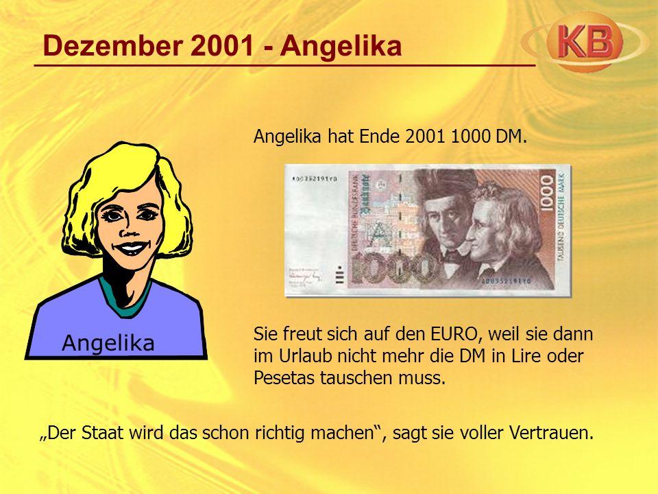 Dezember 2001 - Angelika Angelika Angelika hat Ende 2001 1000 DM.