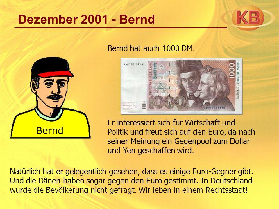 Dezember 2001 - Bernd Bernd Bernd hat auch 1000 DM.