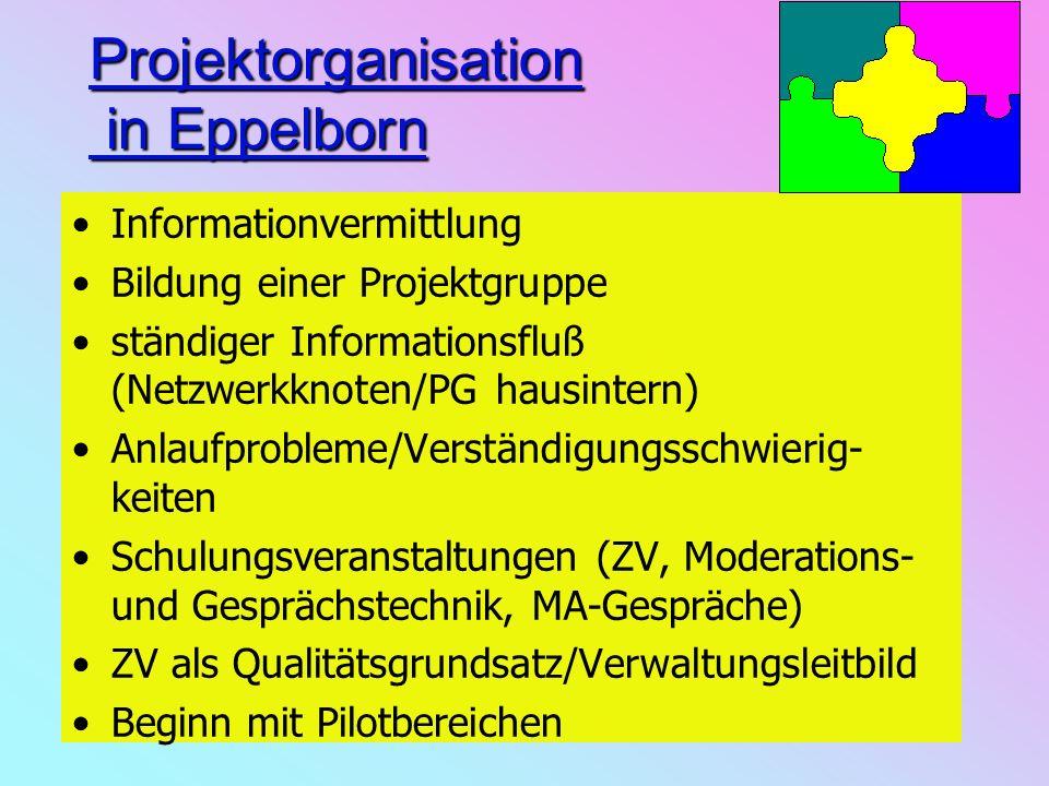 Projektorganisation in Eppelborn