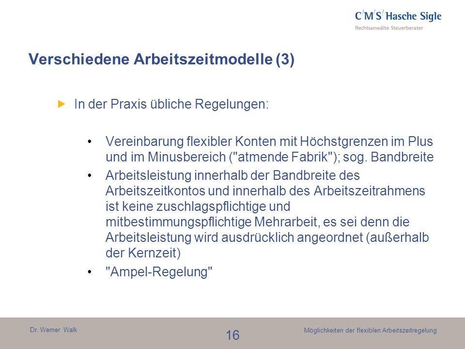Verschiedene Arbeitszeitmodelle (3)