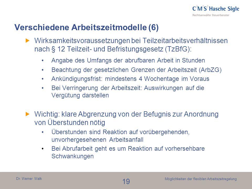 Verschiedene Arbeitszeitmodelle (6)