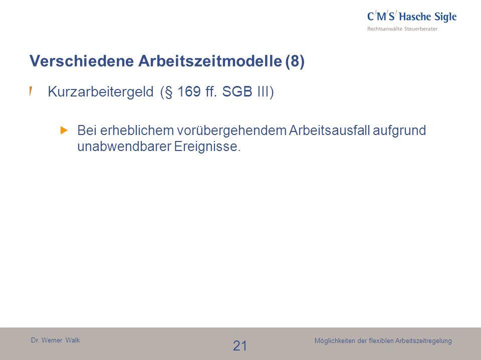 Verschiedene Arbeitszeitmodelle (8)