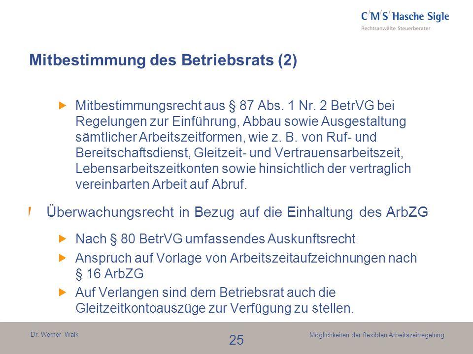 Mitbestimmung des Betriebsrats (2)