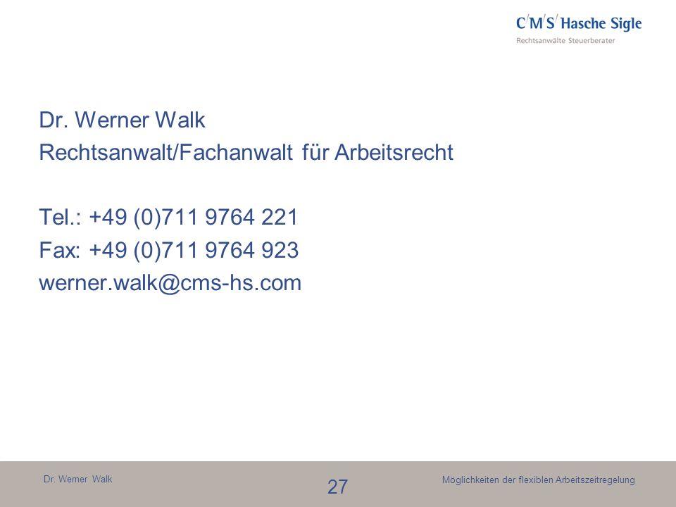 Rechtsanwalt/Fachanwalt für Arbeitsrecht Tel.: +49 (0)711 9764 221
