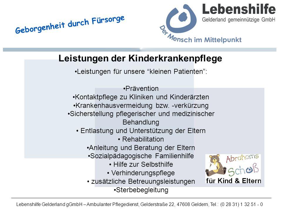 Leistungen der Kinderkrankenpflege