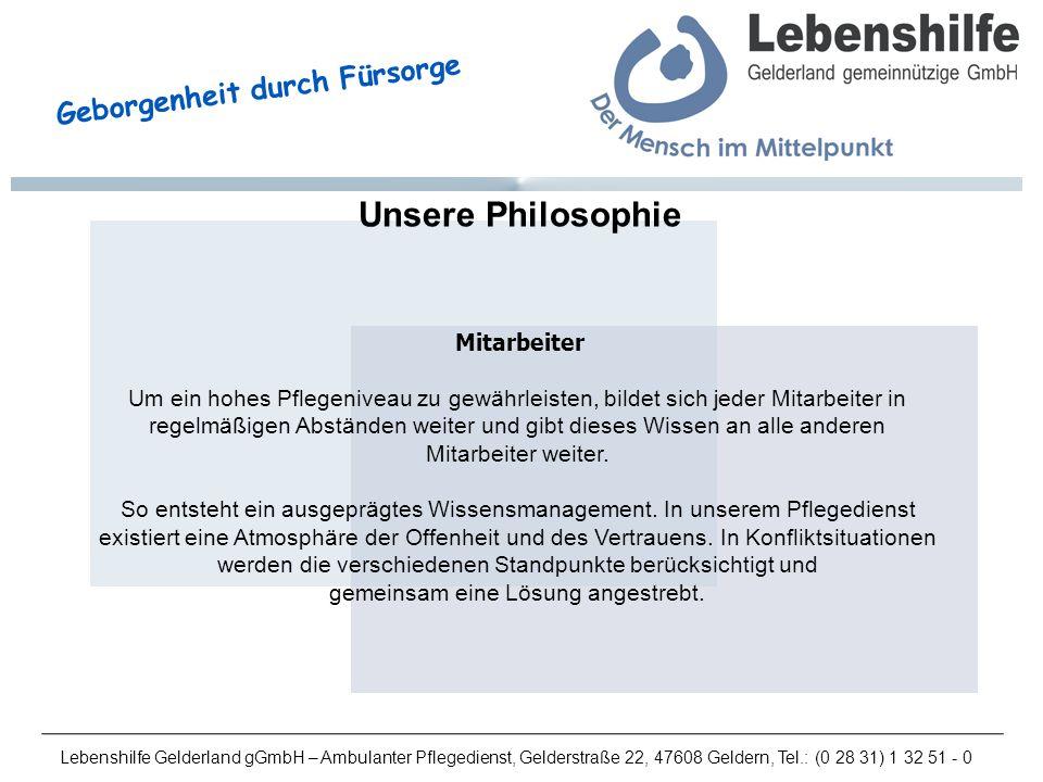 Unsere Philosophie Mitarbeiter