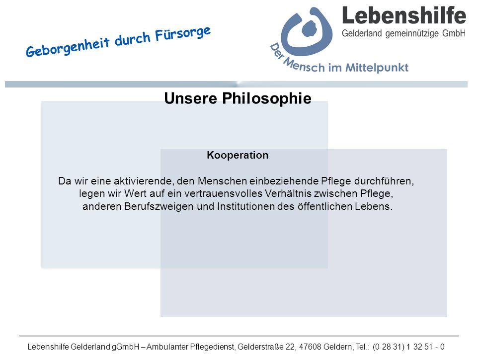 Unsere Philosophie Kooperation