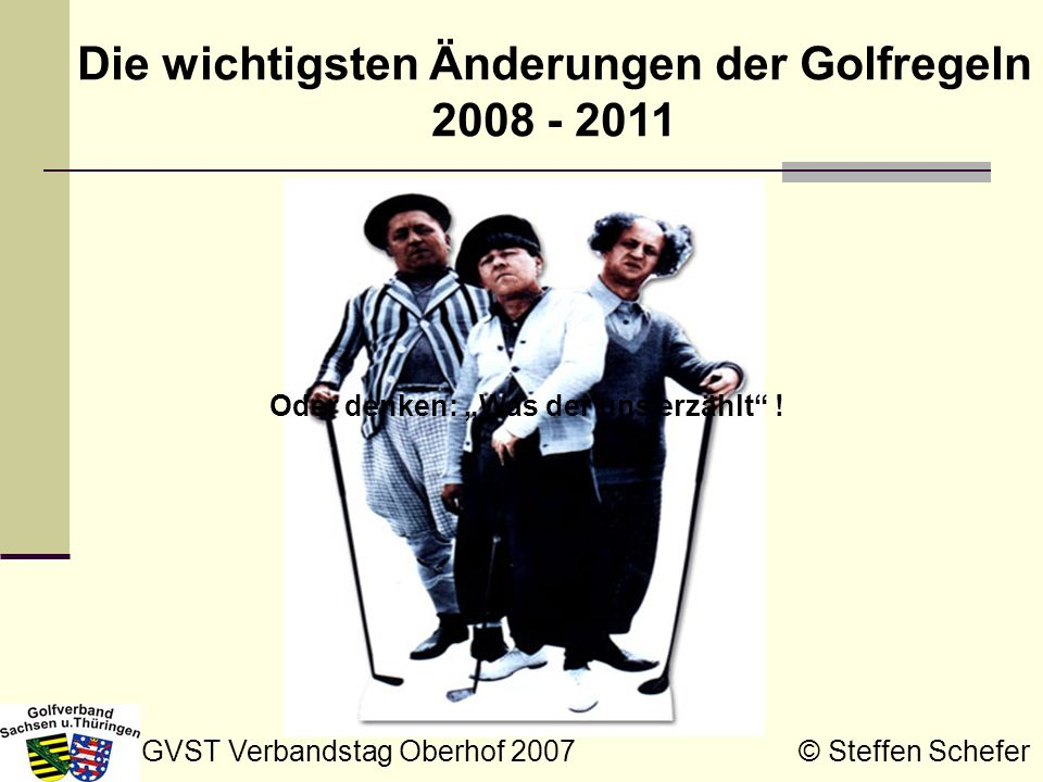 Die wichtigsten Änderungen der Golfregeln 2008 - 2011