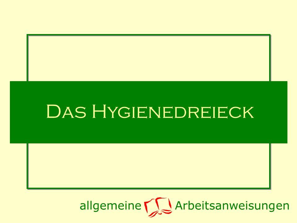 Das Hygienedreieck allgemeine Arbeitsanweisungen