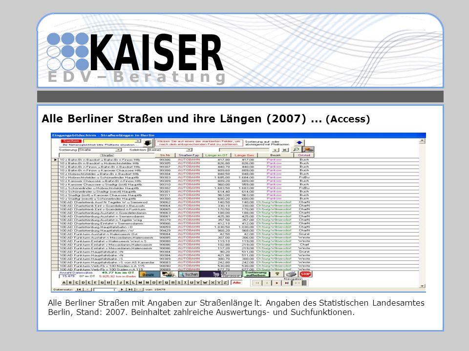 Alle Berliner Straßen und ihre Längen (2007) ... (Access)