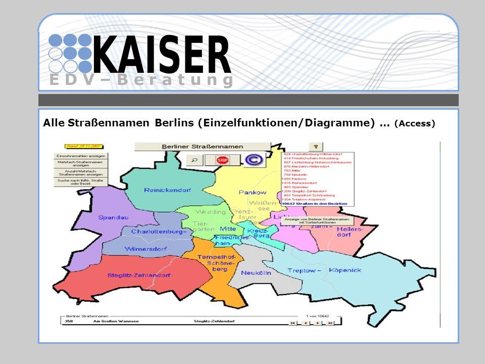 Alle Straßennamen Berlins (Einzelfunktionen/Diagramme) ... (Access)