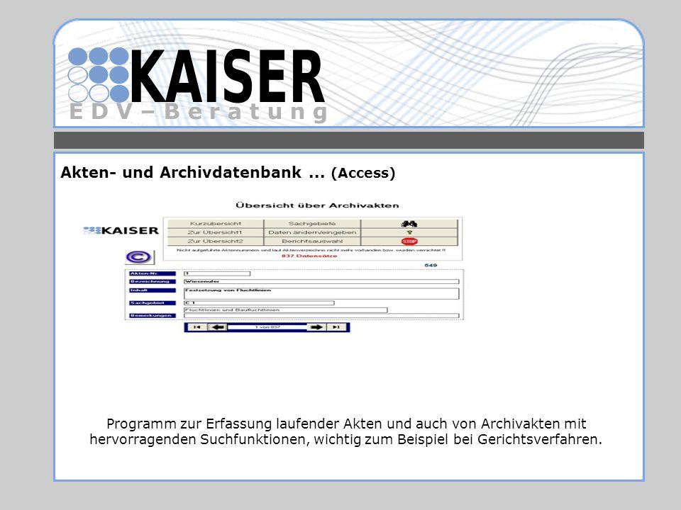 Akten- und Archivdatenbank ... (Access)