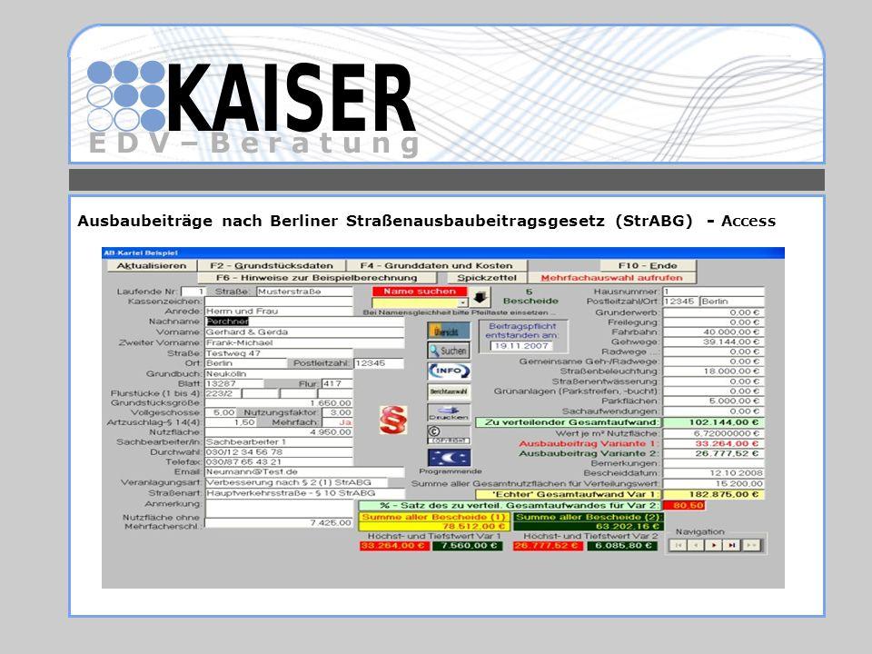 Ausbaubeiträge nach Berliner Straßenausbaubeitragsgesetz (StrABG) - Access