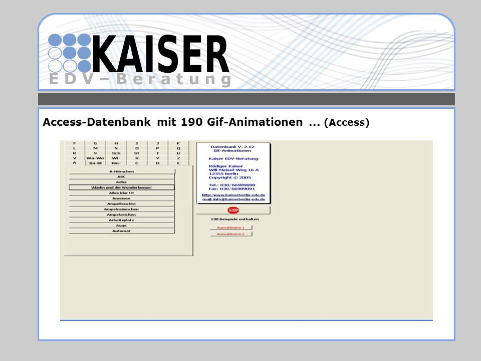 Access-Datenbank mit 190 Gif-Animationen ... (Access)