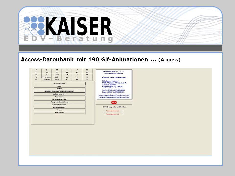 Access-Datenbank mit 190 Gif-Animationen ... (Access)