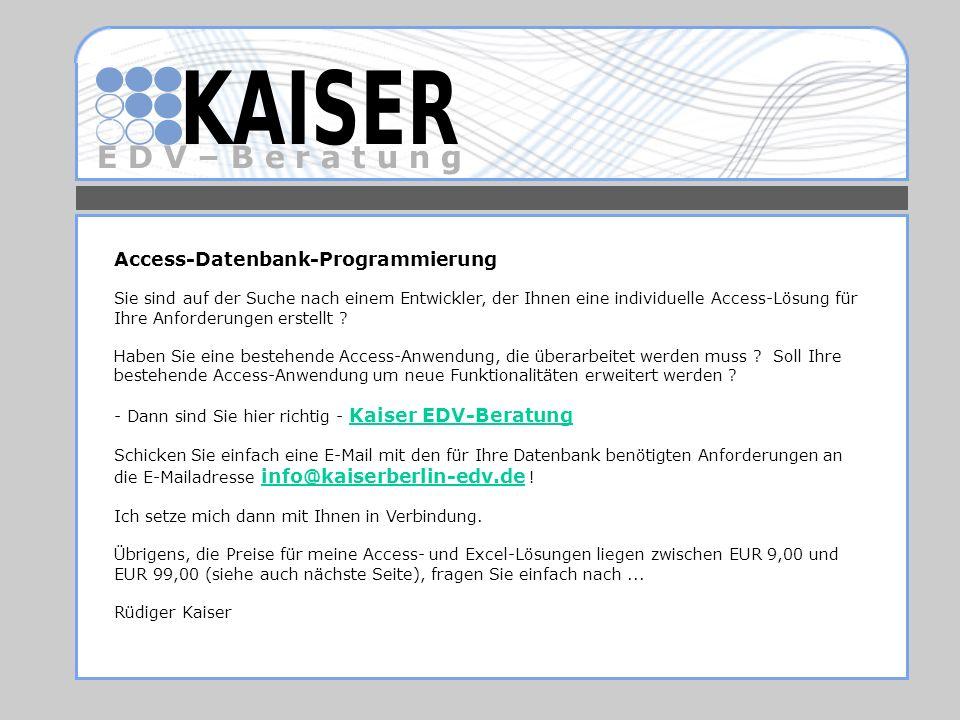 Access-Datenbank-Programmierung