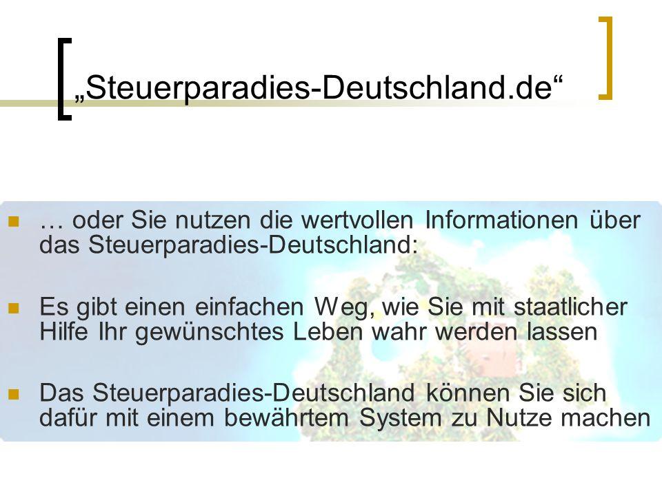 """""""Steuerparadies-Deutschland.de"""