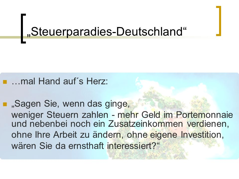 B ei den meisten Deutschen ist Steuern zahlen ähnlich beliebt wie Angela Merkel in der AfD. Doch wie viel Steuern man im Lauf des Jahres genau zahlt, das weiß fast niemand so richtig.
