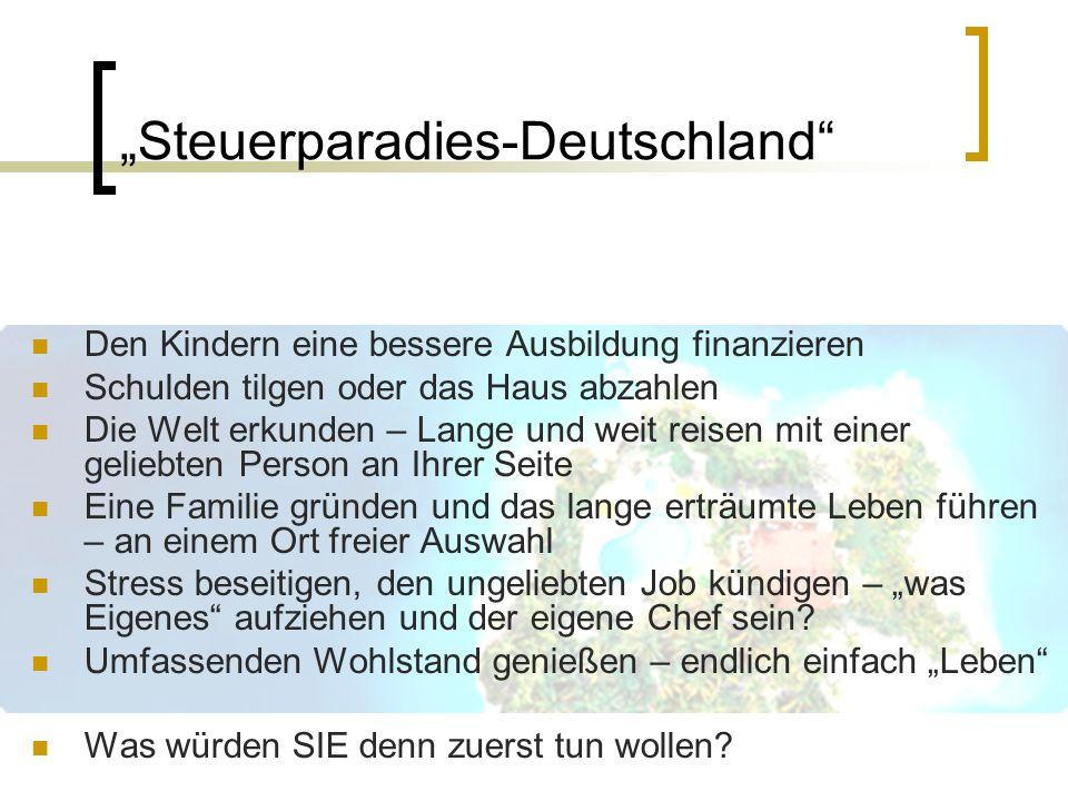 """""""Steuerparadies-Deutschland"""