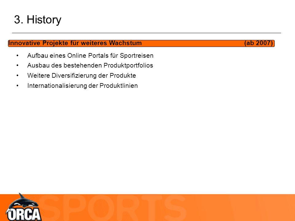 3. History Innovative Projekte für weiteres Wachstum (ab 2007)