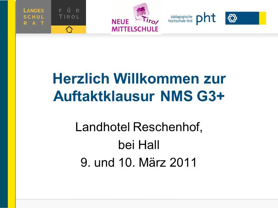 Herzlich Willkommen zur Auftaktklausur NMS G3+