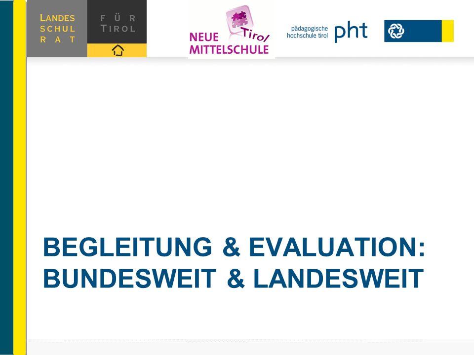 Begleitung & Evaluation: bundesweit & landesweit