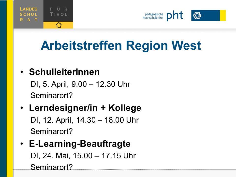 Arbeitstreffen Region West